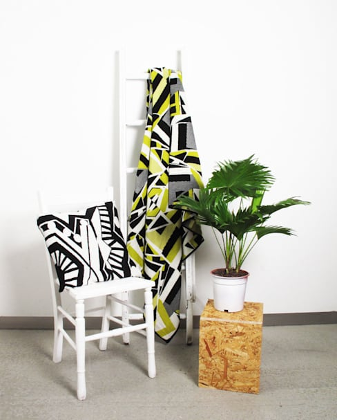Tiles Collection, Blankets and Cushions:  Living room by Catherine MacGruer