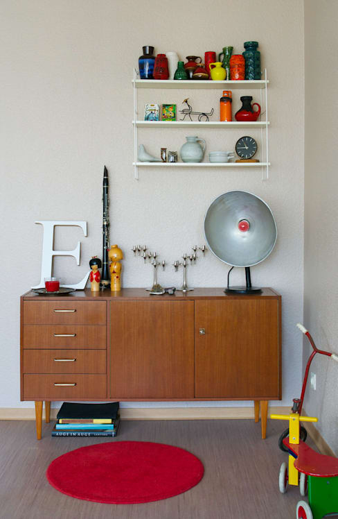 Mighty Vintage:  tarz Oturma Odası