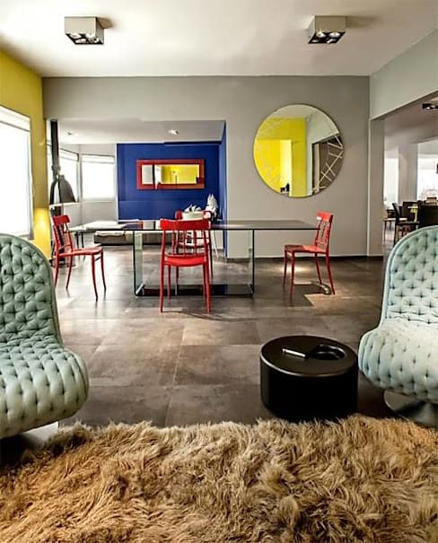 Salas / recibidores de estilo  por Elías Arquitectura