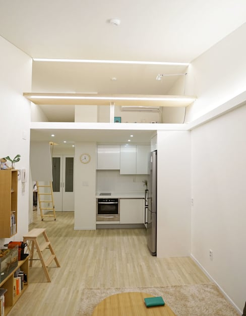 Living room by IDÉEAA _ 이데아키텍츠