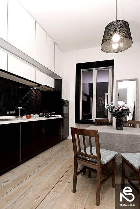 Apartment - Kanatnaja street: Кухни в . Автор – Studio Eksarev & Nagornaya