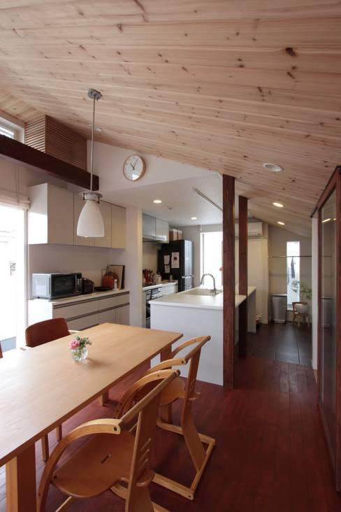 Cocinas de estilo  de アトリエグローカル一級建築士事務所