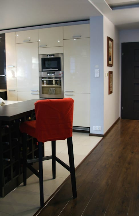 Wnętrza domu jednorodzinnego : styl , w kategorii Kuchnia zaprojektowany przez ER DESIGN