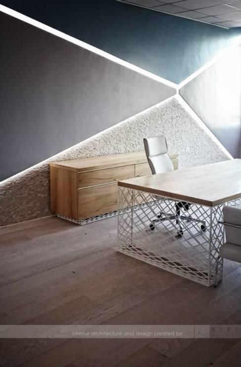 HePe Design interiors – Bilge İnox:  tarz Çalışma Odası