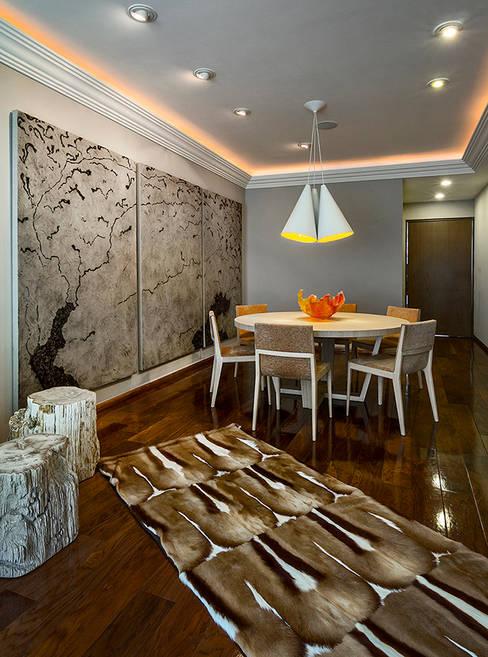 Projekty,  Salon zaprojektowane przez Olivia Aldrete Haas