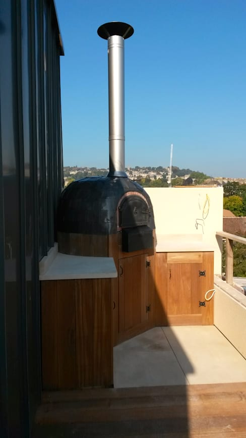 Patios by wood-fired oven