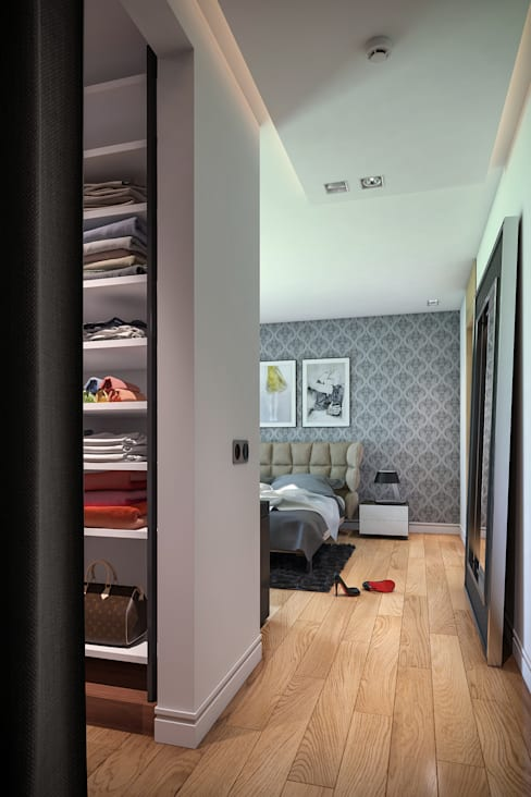 Dressing room by BUUN MOTTO ARCHITECTS