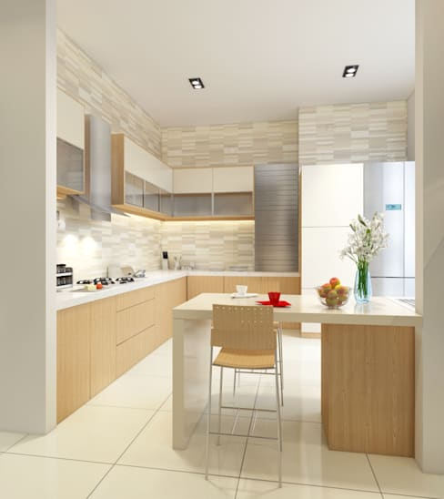 Singh Residence:  Kitchen by Space Interface