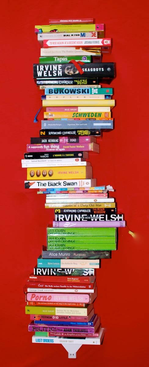 Bücherstapel - das kleine Regal:  Arbeitszimmer von Lehmbecker