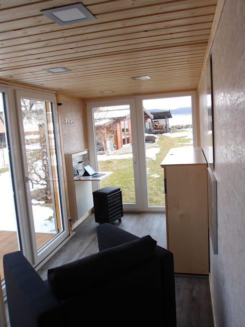 غرفة المعيشة تنفيذ Stefan Brandt - solare Luftheizsysteme und Warmuftkollektoren