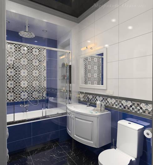 трехкомнатная квартира ул. Кирочная: Ванные комнаты в . Автор – Design interior OLGA MUDRYAKOVA