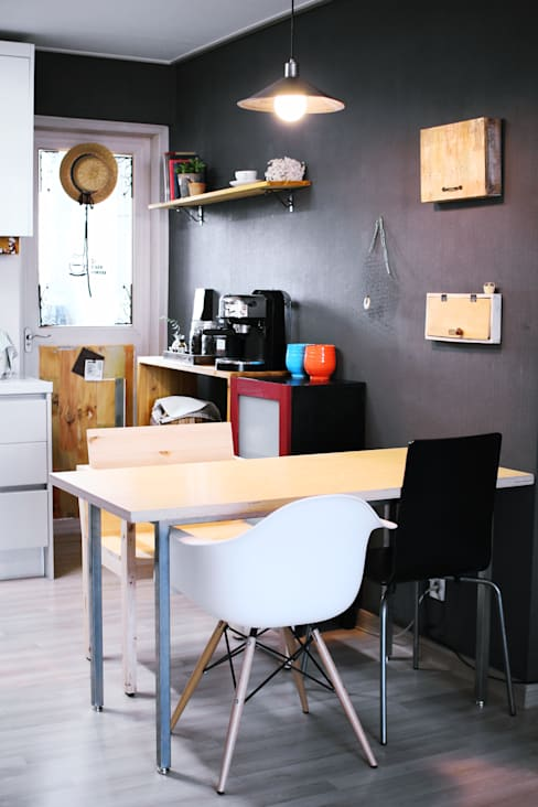 전셋집 4년 셀프인테리어 self interior : 13월의 블루 의  다이닝 룸