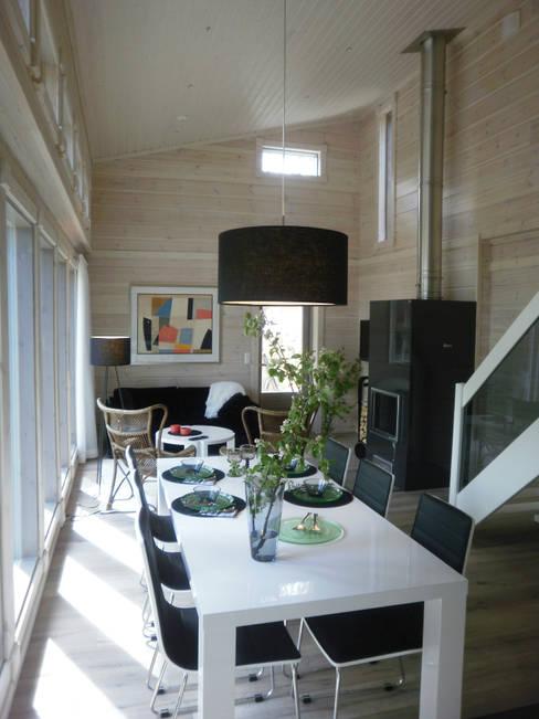 Woody-Holzhaus - Kontio:  tarz Yemek Odası