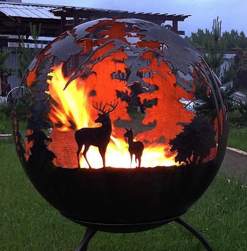 Projekty,  Ogród zaprojektowane przez Firecup