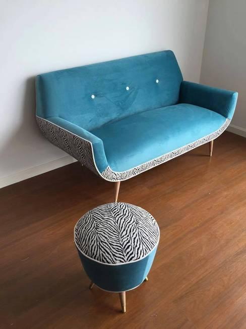 Salas de estilo  por Mostaza Espacio de Diseño