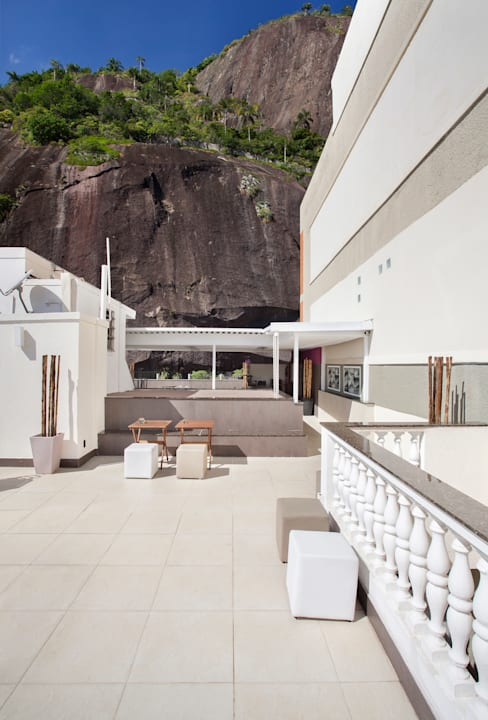 Terraço Urca - RJ: Terraços  por DG Arquitetura + Design