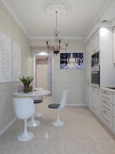 Студия дизайна интерьера Маши Марченкоが手掛けたキッチン