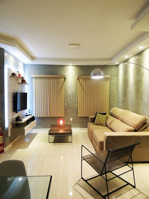 Salas de estilo  por Alkaa Arquitetos Associados