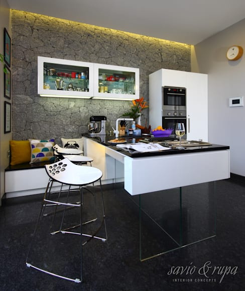 Floating Island Kitchen:  Kitchen by Savio and Rupa Interior Concepts