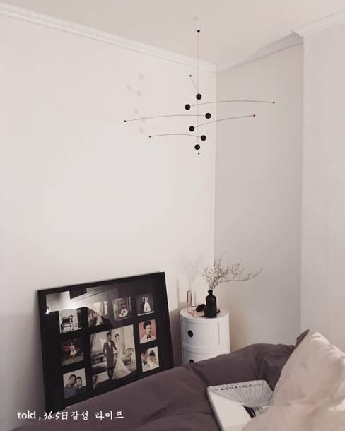 DIY 신혼집 인테리어 : toki의  침실