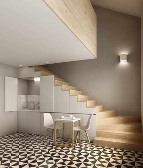 Projekty,  Jadalnia zaprojektowane przez David Bilo | Arquitecto