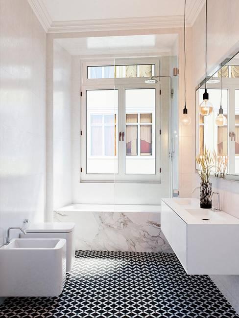 Baños de estilo  por Berga&Gonzalez - arquitectura y render