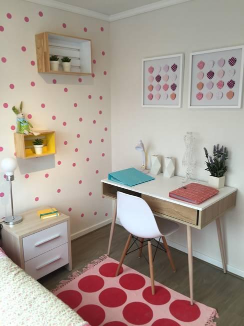 Departamento Piloto Michimalonco: Habitaciones infantiles de estilo  por A+ i Arquitectura & Interiorismo