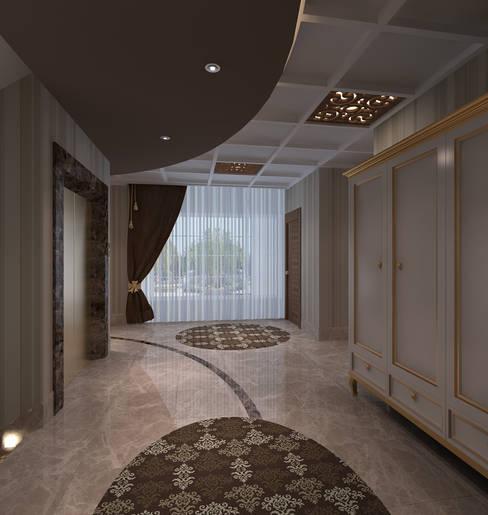 Projekty,  Korytarz, przedpokój zaprojektowane przez Mimoza Mimarlık