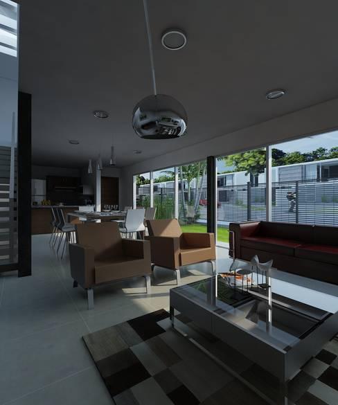 ห้องนั่งเล่น by CCA|arquitectos