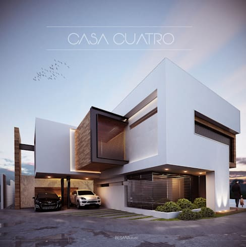 Casas de estilo  por Besana Studio