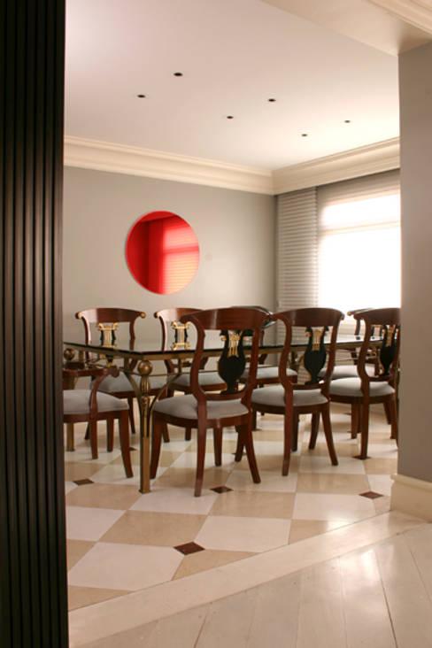 Sala de jantar - Depois:   por Brunete Fraccaroli Arquitetura e Interiores