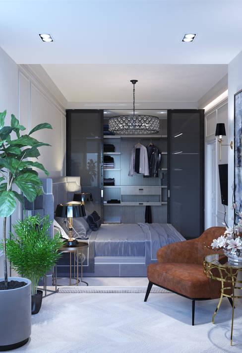 Cпальня - алтернатива светлый цвет паркета: Спальни в . Автор – Бюро9 - Екатерина Ялалтынова