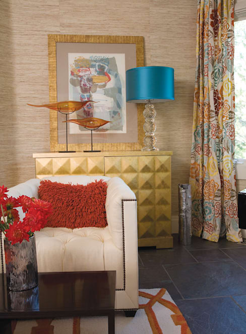 Greenwood Village Home:  Living room by Andrea Schumacher Interiors