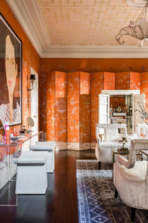 Maison de Luxe:  Dressing room by Andrea Schumacher Interiors