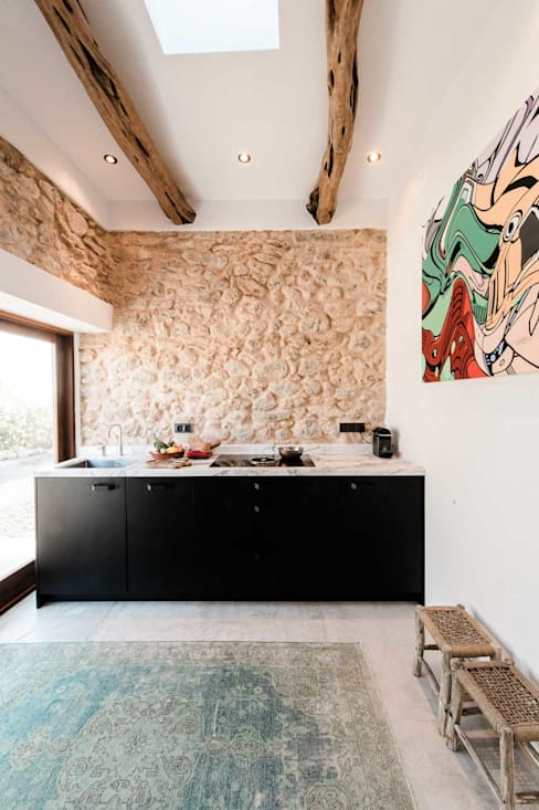 Ibiza Campo - Guesthouse:  Kitchen by Ibiza Interiors - Nederlandse Architect Ibiza