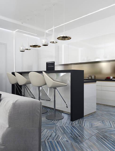 Солнечная квартира у моря: Кухни в . Автор – VITTA-GROUP