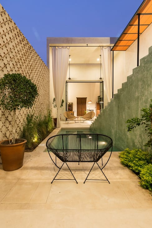 Projekty,  Taras zaprojektowane przez Taller Estilo Arquitectura