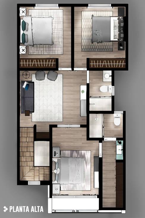 Projekty,  Sypialnia zaprojektowane przez CDR CONSTRUCTORA