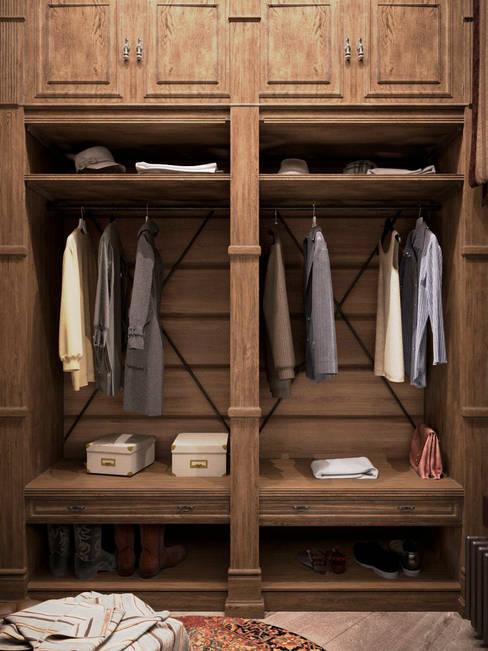 Vestidores y closets de estilo  por Архитектура Интерьера