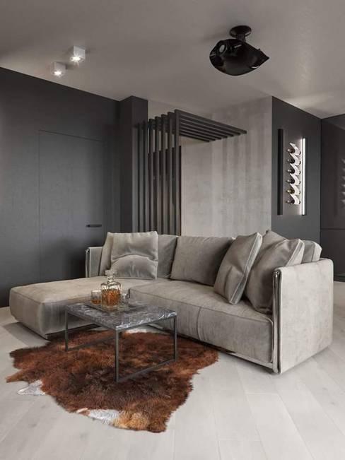 Living room by casas eco constructora