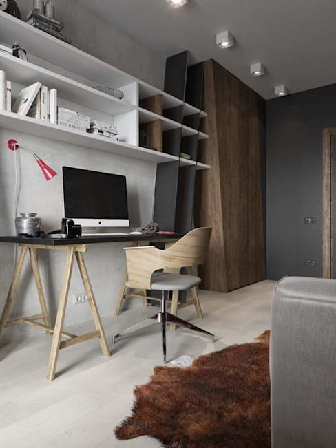 ห้องทำงาน/อ่านหนังสือ by casas eco constructora