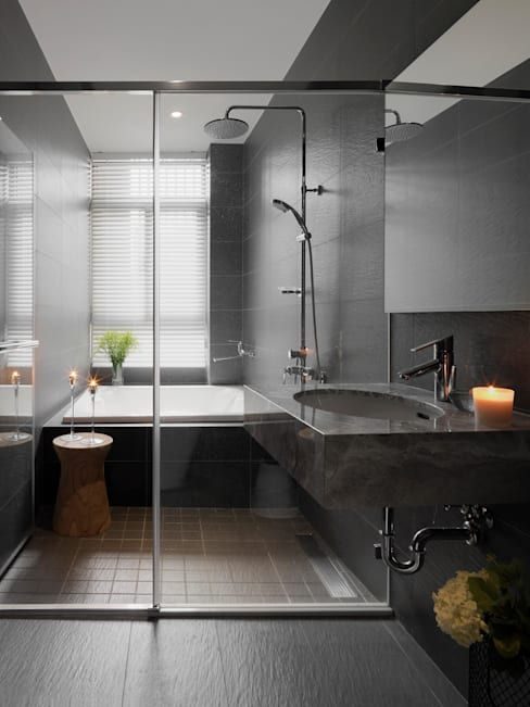 Bathroom by 夏沐森山設計整合