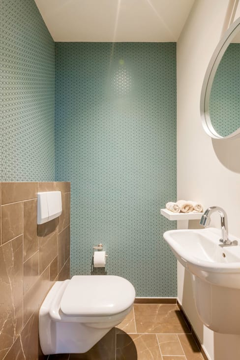 Toilet:  Badkamer door Aangenaam Interieuradvies