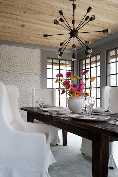 Ridgeview Showhouse:  Dining room by Christopher Architecture & Interiors