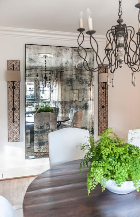 Spanish Colonial Interiors:  Dining room by Christopher Architecture & Interiors