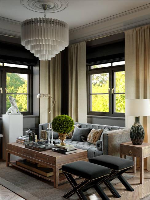 Интерьер гостиной: Гостиная в . Автор – Studio 25