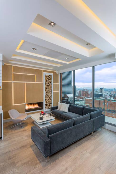 Projekty,  Salon zaprojektowane przez Bloque B Arquitectos