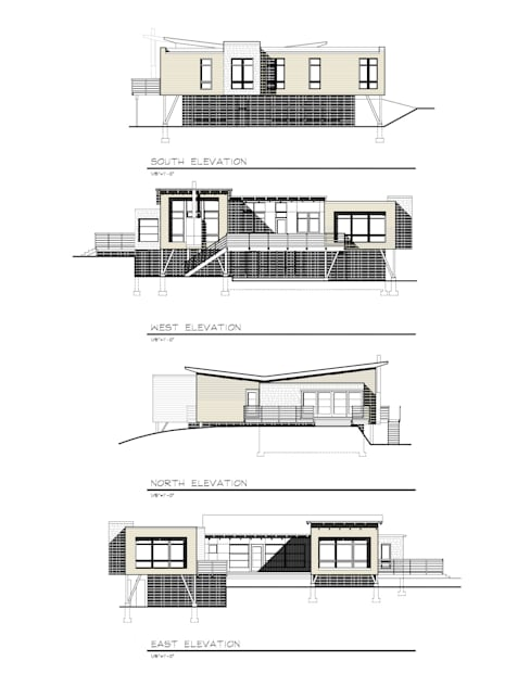 ELEVATIONS:   by JMKA architects