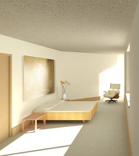 JONKERSHOEK ROAD, STELLENBOSCH:  Bedroom by Gallagher Lourens Architects
