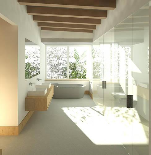 JONKERSHOEK ROAD, STELLENBOSCH:  Bathroom by Gallagher Lourens Architects